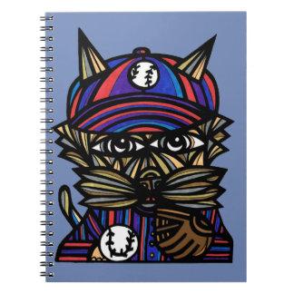 """""""Baseball Kat"""" Spiral Notebook"""