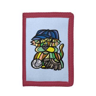 """Baseball Kat"" TriFold Nylon Wallet"