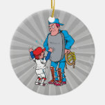 baseball kid arguing with the umpire ornament