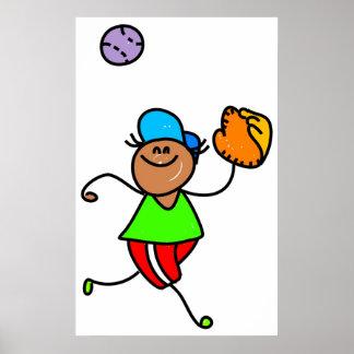 Baseball Kid Poster