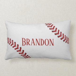Baseball Laces Bases Ball Red White Game Name Lumbar Cushion