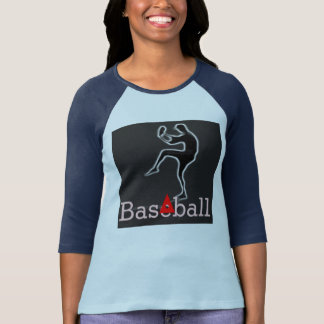 Baseball Ladies 3/4 Sleeve Raglan (Fitted) T Shirt