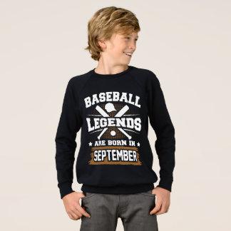 baseball legends are born in september sweatshirt