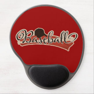 BASEBALL LOGO GRAPHICS RED BLACK NEUTRAL COLORS TE GEL MOUSE PAD