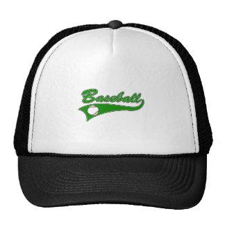 Baseball Logo Green Mesh Hats