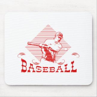 Baseball Logo Man Mouse Pad