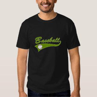 Baseball Logo Olive Green T-shirts