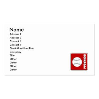 Baseball Logo Pack Of Standard Business Cards