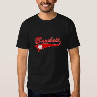 Baseball Logo Red Tees