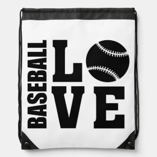 Baseball Love, Baseball Drawstring Bag