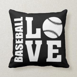 Baseball love Black Cushion