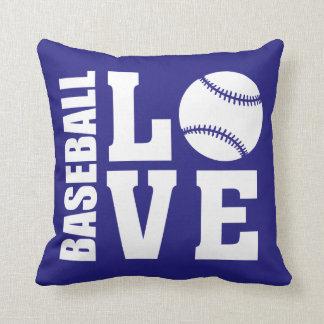 Baseball Love Blue Cushion