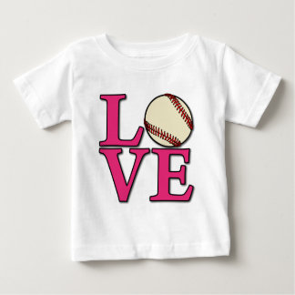 Baseball LOVE, melon Baby T-Shirt