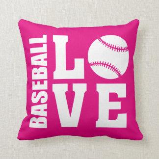 Baseball Love Pink Cushion