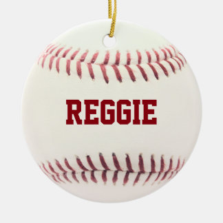 Baseball Lover Personalized Ornament