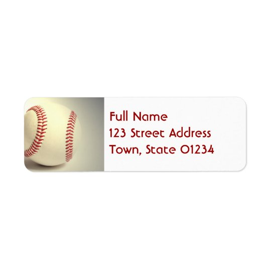 Baseball Mailing Labels