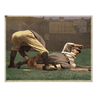 Baseball Memorabilia Poster In Cool Vintage Style