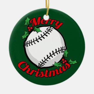 Baseball Merry Christmas Christmas Ornament