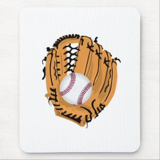 Baseball Mitt and Ball Mouse Pad