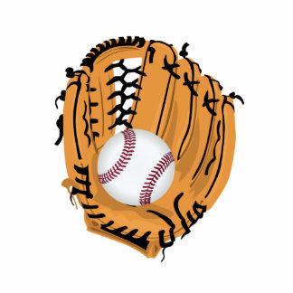 Baseball Mitt and Ball Standing Photo Sculpture