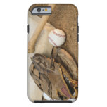 Baseball, Mitt, and Bat on Base Tough iPhone 6 Case