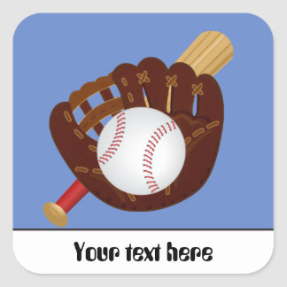 Baseball mitt ball bat ustomizable sticker