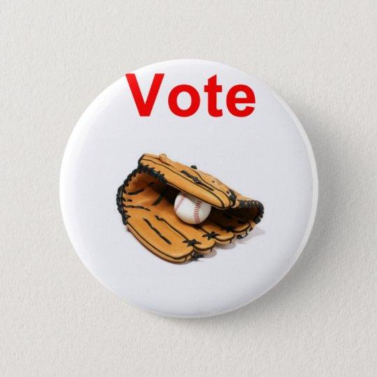 Baseball mitt romney 2012 6 cm round badge