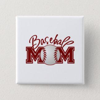 Baseball MOM 15 Cm Square Badge