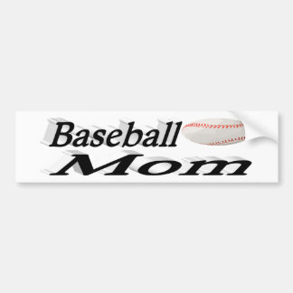 Baseball Mom  3D Bumper Sticker
