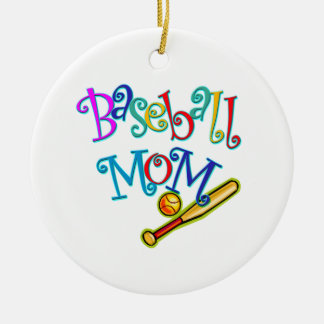Baseball Mom Christmas Ornament