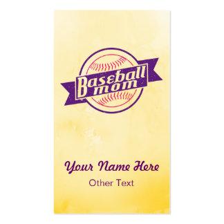 Baseball Mom Customizable Business Cards