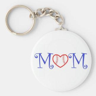 Baseball Mom Keychain, Blue