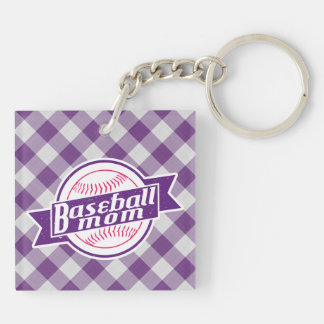 Baseball Mom Keyring