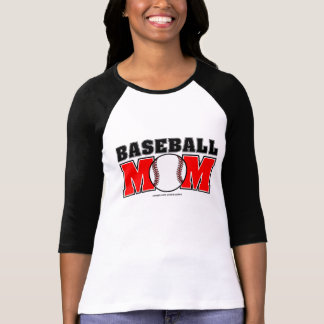 Baseball Mom Ladies 3/4 Sleeve Raglan (Fitted) Tee Shirts