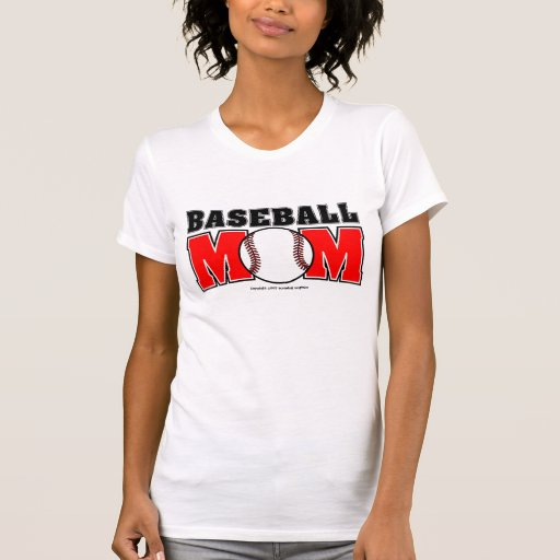 Baseball Mom Ladies AA Reversible Sheer Top Tee Shirts