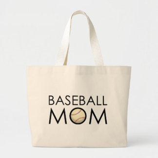 Baseball Mom Large Tote Bag