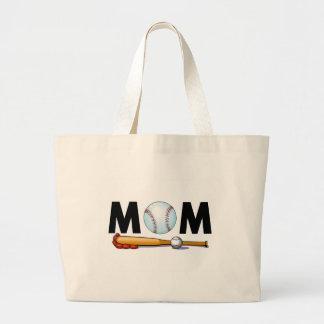 Baseball Mom Large Tote Bag