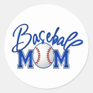 Baseball Mom Round Sticker