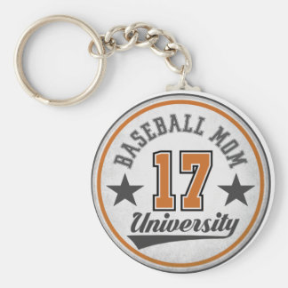 Baseball Mom University Key Chain
