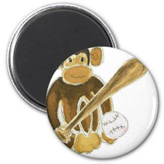 Baseball Monkey Fridge Magnet