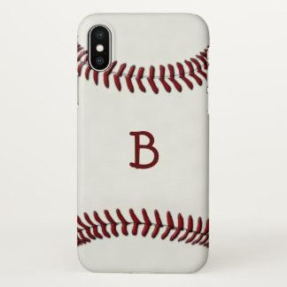 Baseball Monogram iPhone X Case