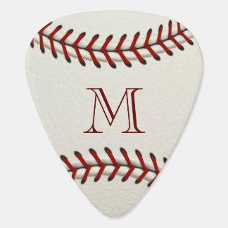 Baseball Monogram Template Guitar Pick
