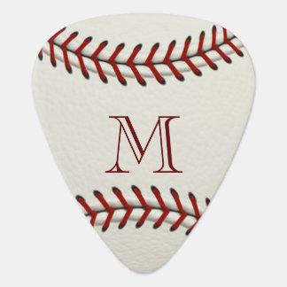 Baseball Monogram Template Plectrum