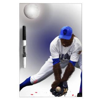 Baseball Monster Wolf Animal Dry Erase Board