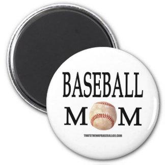 Baseball Mum 6 Cm Round Magnet