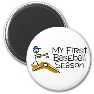 Baseball My First Baseball Season 6 Cm Round Magnet