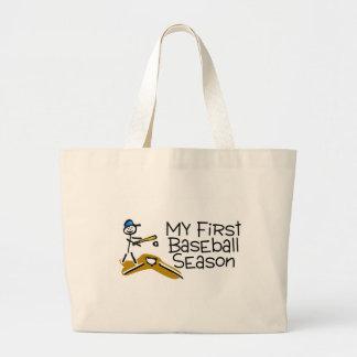 Baseball My First Baseball Season Bags