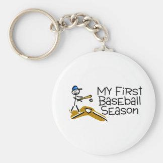 Baseball My First Baseball Season Basic Round Button Key Ring