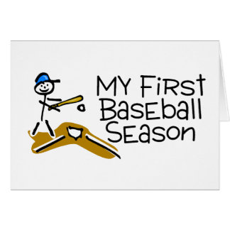 Baseball My First Baseball Season Greeting Cards