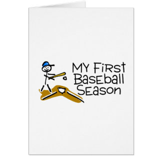 Baseball My First Baseball Season Greeting Card
